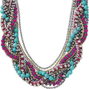 Stella & Dot Bamboleo braided statement necklace